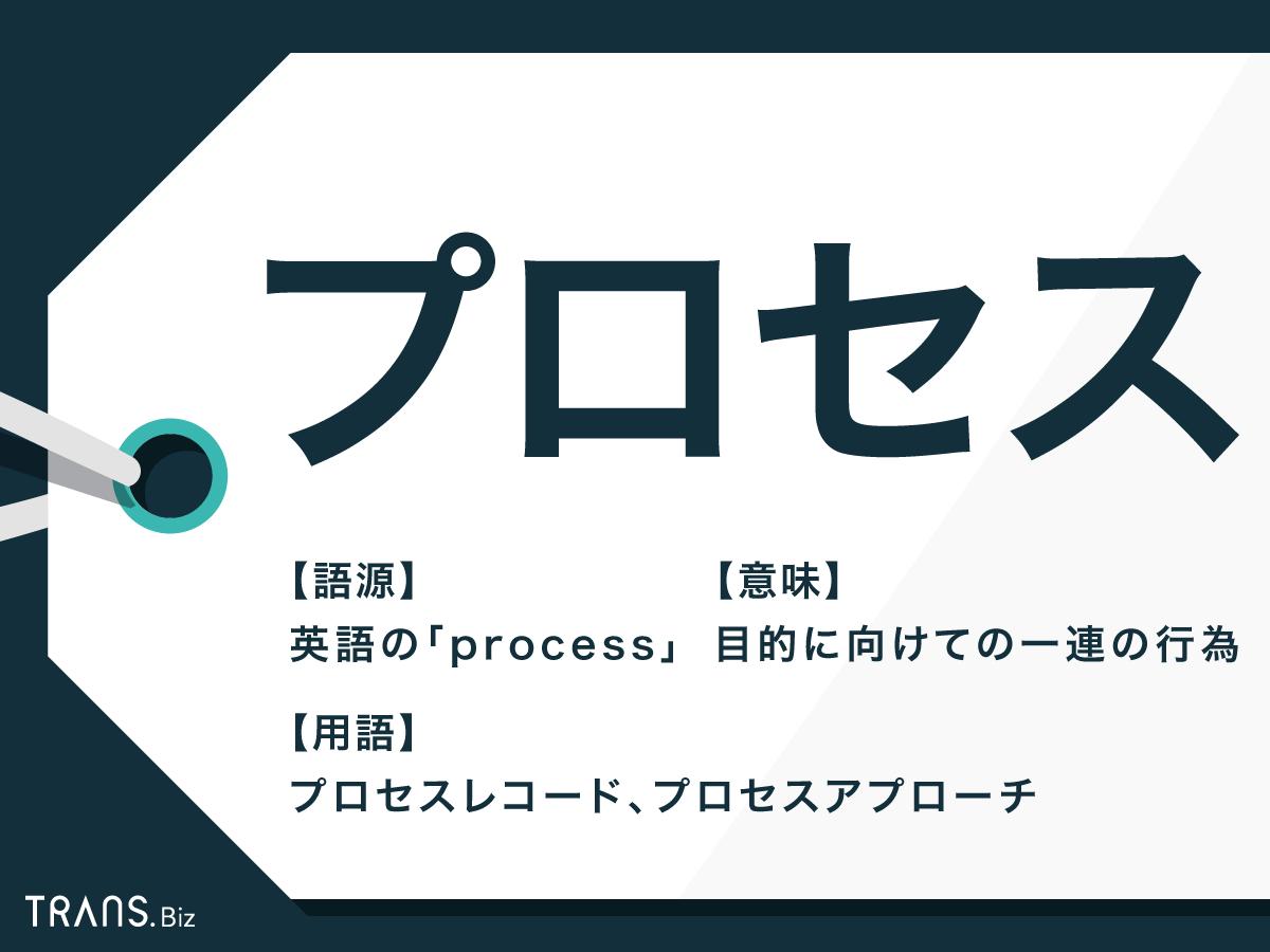 プロセス」の意味とは?IT用語としての使い方と例文も   TRANS.Biz