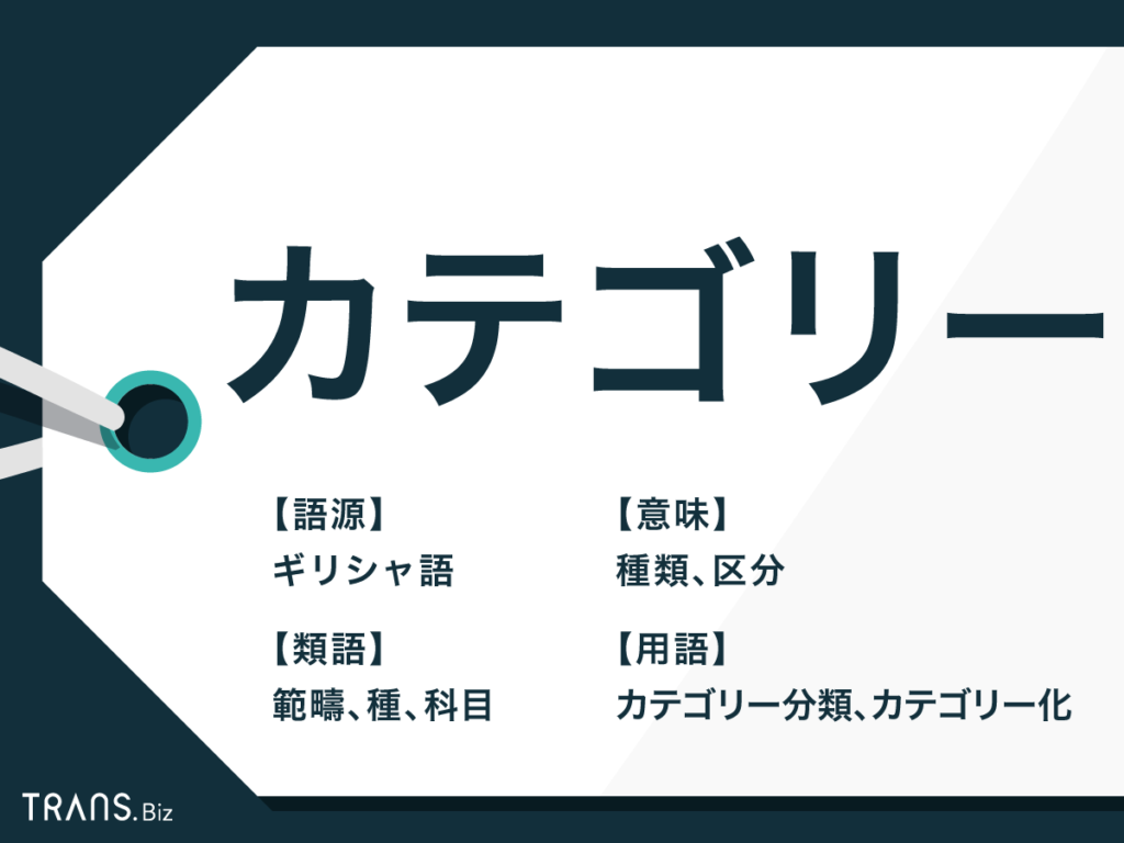 英語 カテゴリー